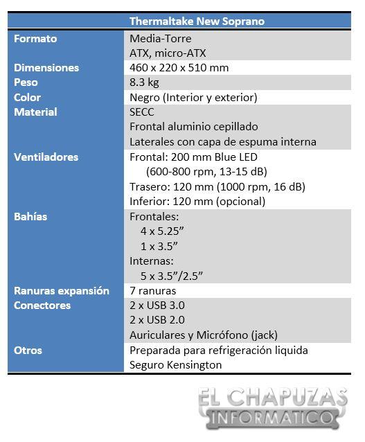 Thermaltake Soprano Especificaciones 2