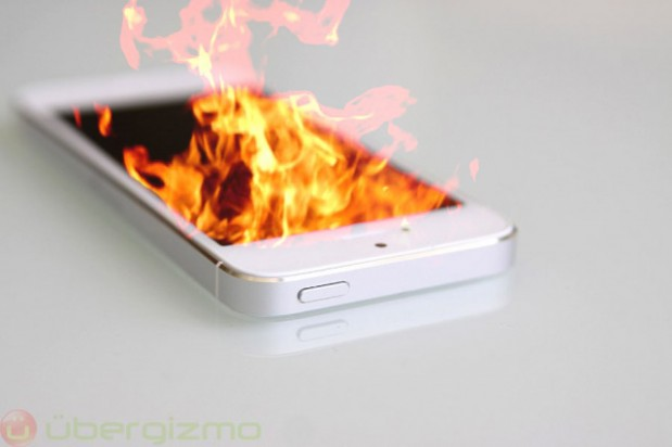 iPhone5 ardiendo