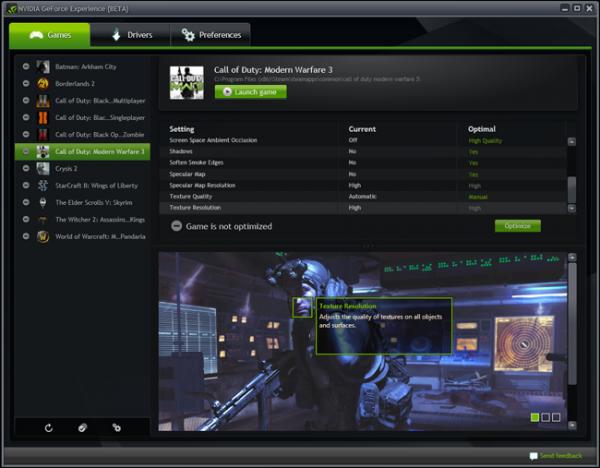 Nvidia GeForce Experience abre su fase beta  10.000 usuarios