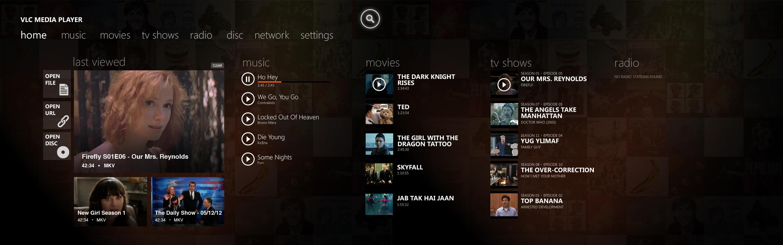 Así podría lucir VLC para Windows 8
