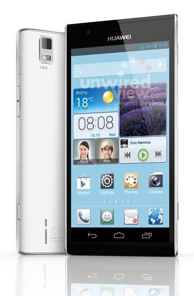 Un delgado Huawei Ascend P2 se filtra antes de la MWC