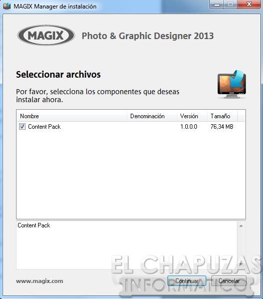 Magix Photo Graphic Designer 2013 Interfaz 03 8