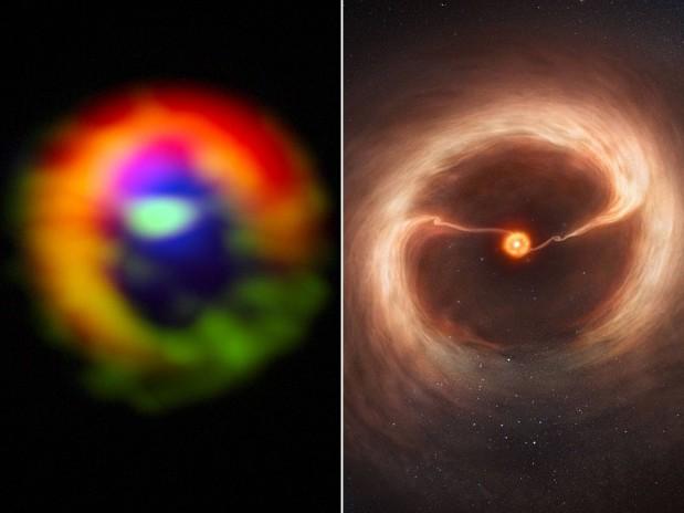 Nuevo planeta formado con polvo de estrellas