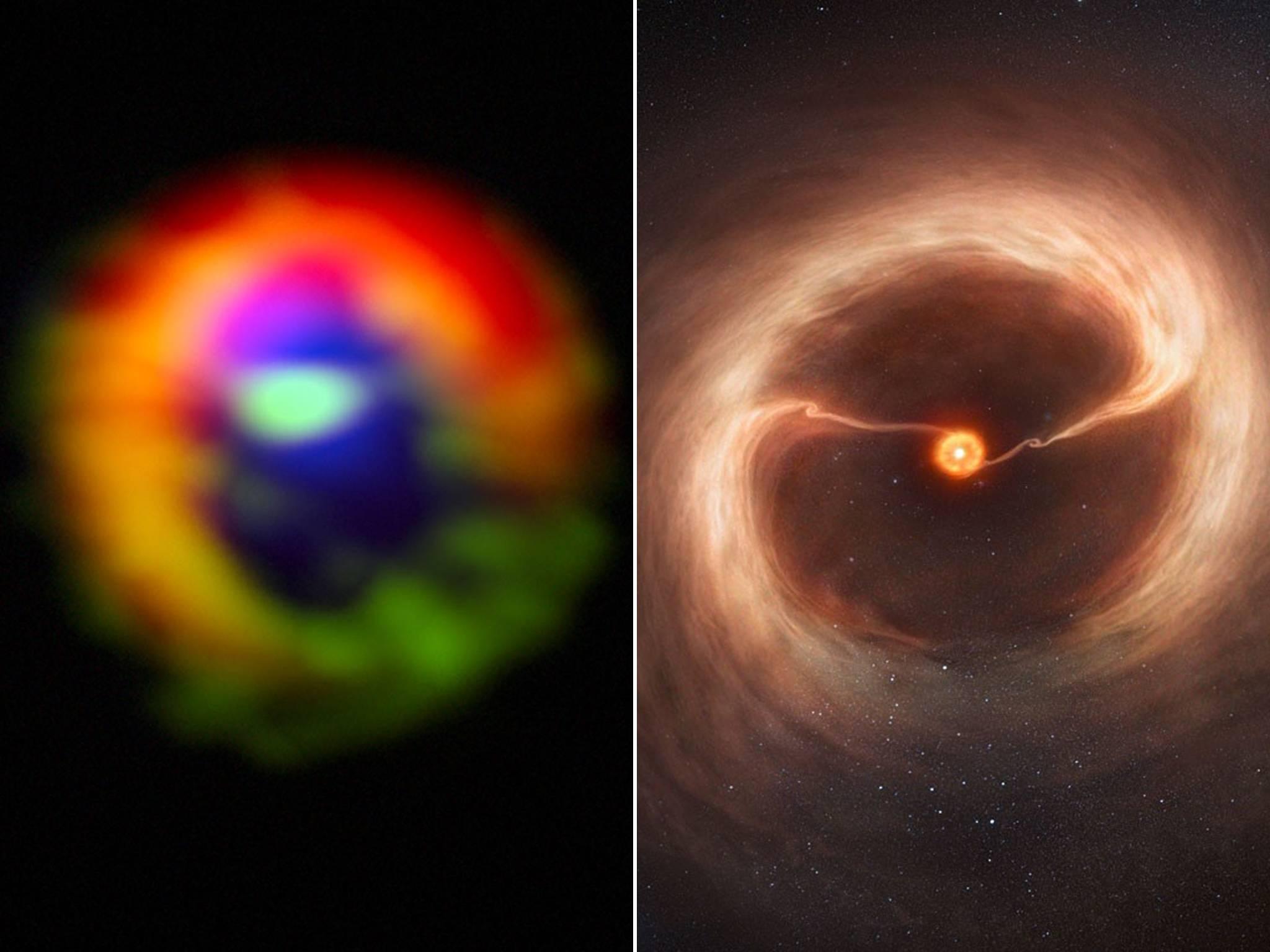 Primera imagen de un nuevo planeta formado con polvo de estrellas