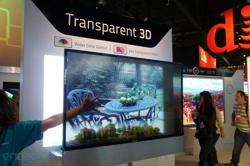 CES 2013: HiSense muestra su televisor 3D transparente