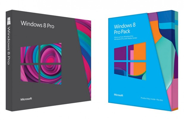 Windows 8 y Windows 8 Pro Pack