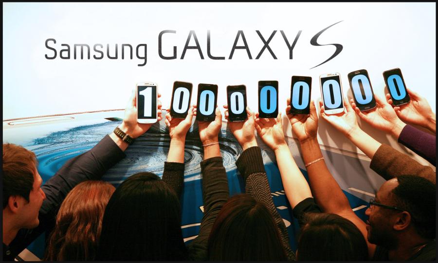 galaxy s 100000000 unidades