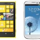 Nokia Lumia 920 y Samsung Galaxy S III se enfrentan a una maquina lanza pelotas
