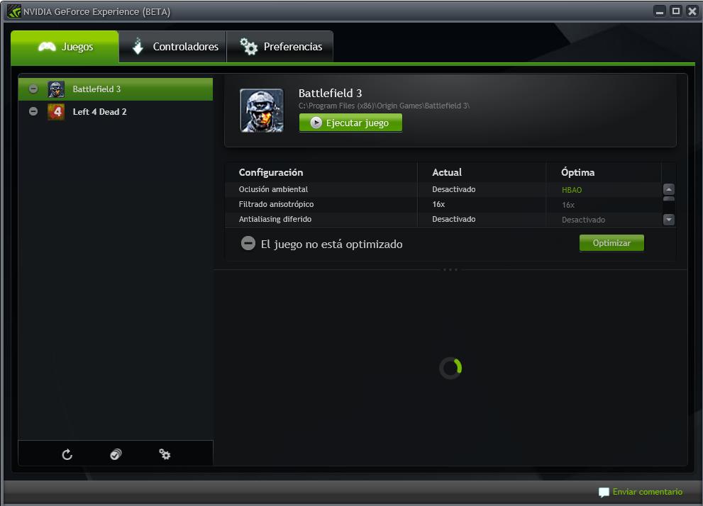 Nvidia GeForce Experience ya disponible