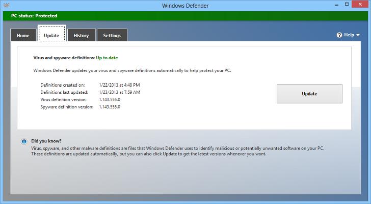 Windows Defender de Windows 8 encabeza las pruebas de seguridad