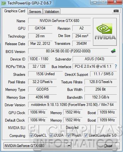 lchapuzasinformatico.com wp content uploads 2013 02 Asus GeForce GTX 680 DirectCU II 4GB GPU Z 39