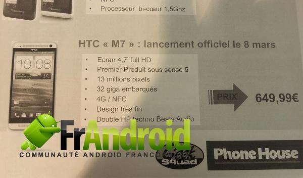 HTC M7 Phone House