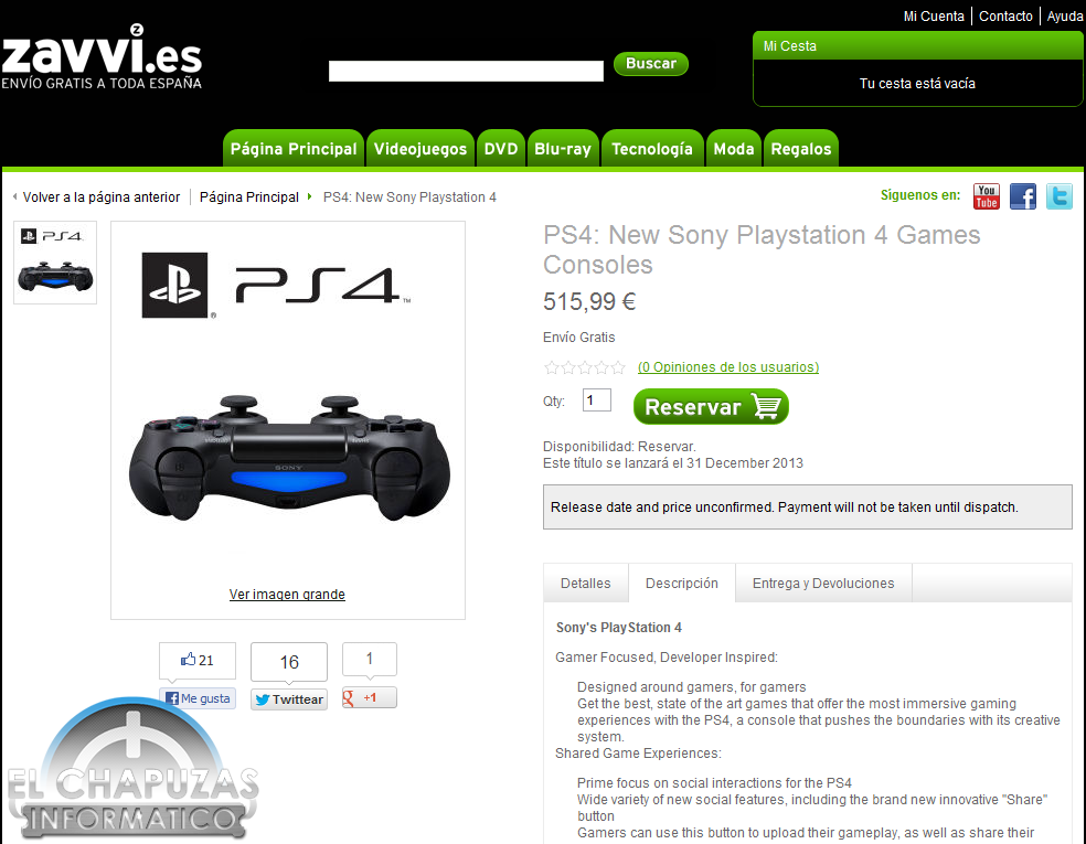 Reserva la PlayStation 4 invisible por 515.99 euros en Zavvi