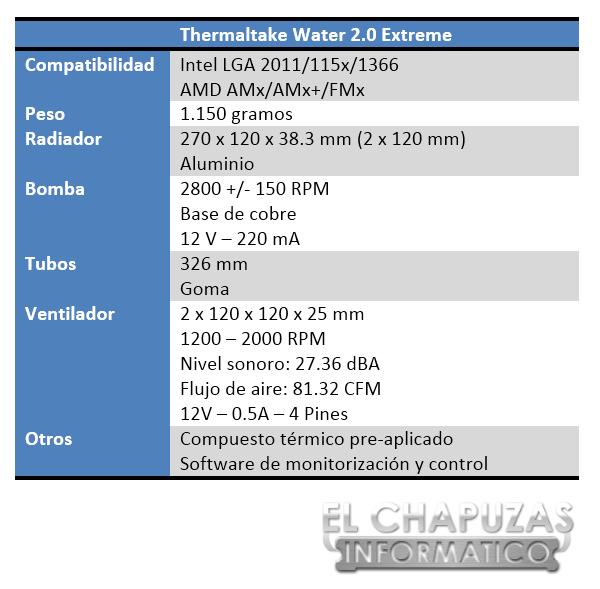 Thermaltake Water 2.0 Extreme Especificaciones 2