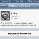 Apple lanza iOS 6.1.1 para el iPhone 4S