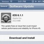Problemas de batería con iOS 6.1.1 en iPhone 4S
