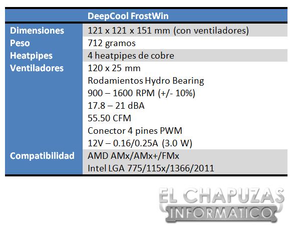 lchapuzasinformatico.com wp content uploads 2013 03 DeepCool FrostWin Especificaciones 2