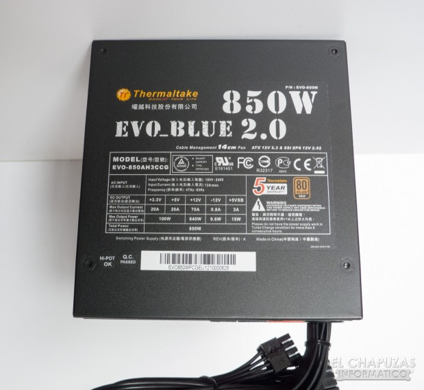 Thermaltake Evo Blue 2.0 850W 13 619x569 17