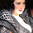 Dita Von Teese se deja vestir por una impresora 3D