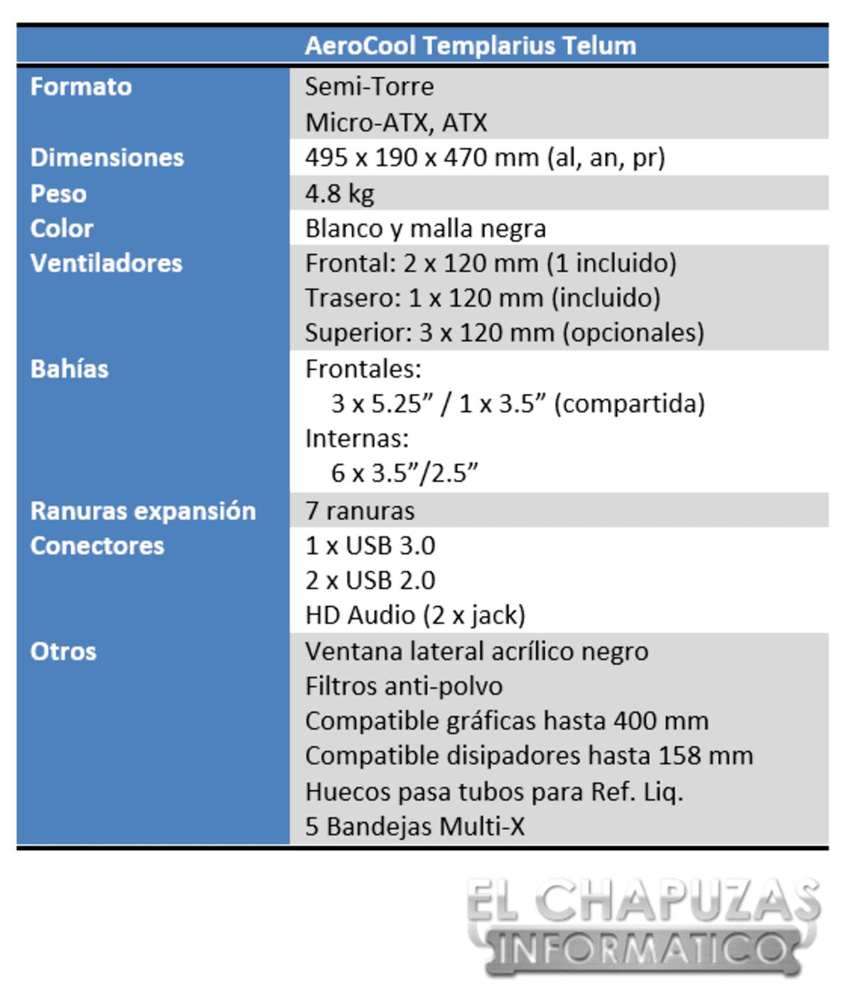 lchapuzasinformatico.com wp content uploads 2013 04 Aerocool Templarius Telum Especificaciones 1