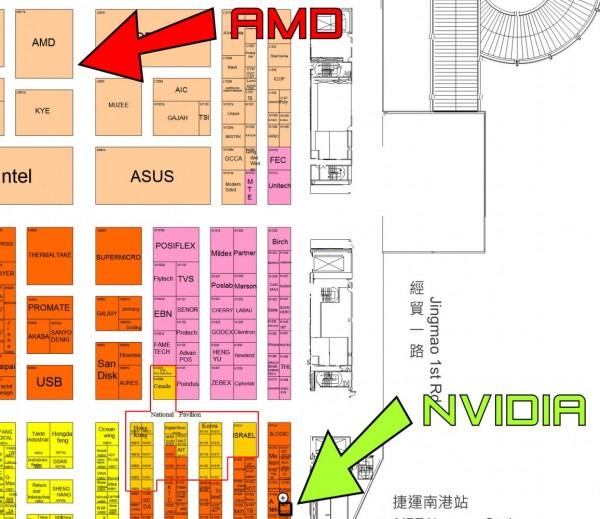 Computex 2013, Stand AMD vs Nvidia