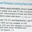 Intel aumentará un 10% la potencia de sus gráficos Intel HD 4000