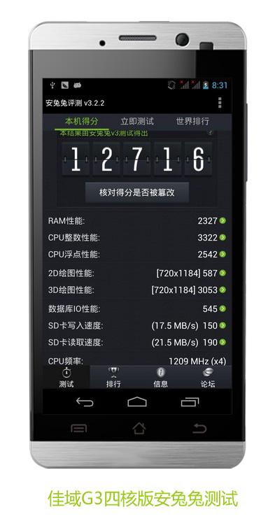 JiaYu G3 Quad-Core Benchmark