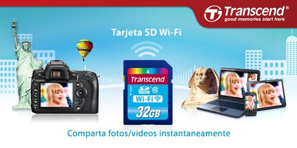 Transcend tarjeta SD WiFi