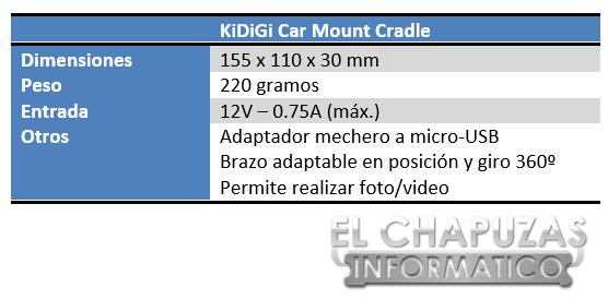 lchapuzasinformatico.com wp content uploads 2013 05 KiDiGi Car Mount Cradle Especificaciones 2