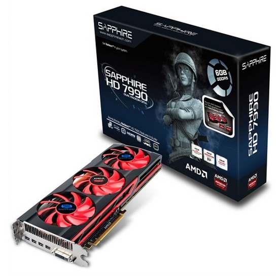 Sapphire Radeon HD 7990 Dual-X 6GB GDDR5