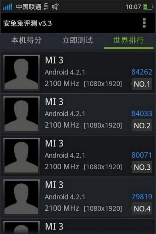 Xiaomi Mi3 AnTuTu