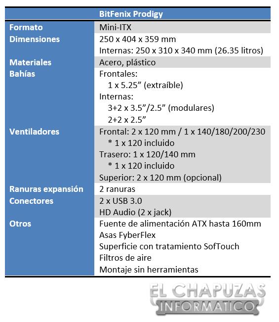 Bitfenix Prodigy Especificaciones 2