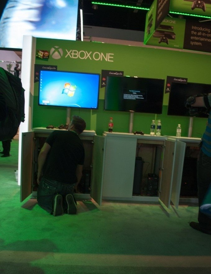 Microsoft usó un PC para mostrar sus demos de Xbox One