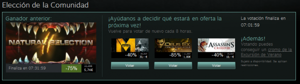 Oferta Comunidad Steam 15 de julio