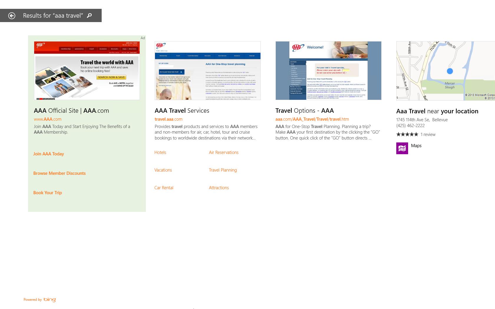 Microsoft mostrará anuncios en las búsquedas de Windows 8.1
