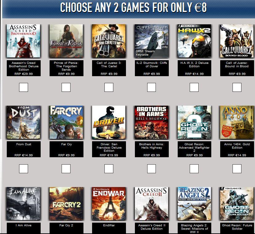 Ubisoft Get Loaded: 2 juegos Ubisoft por 8 €