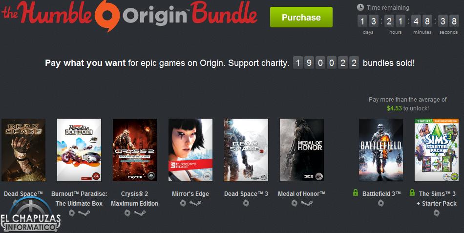 The Humble Origin Bundle: 8 juegos Origin por 3.41 euros