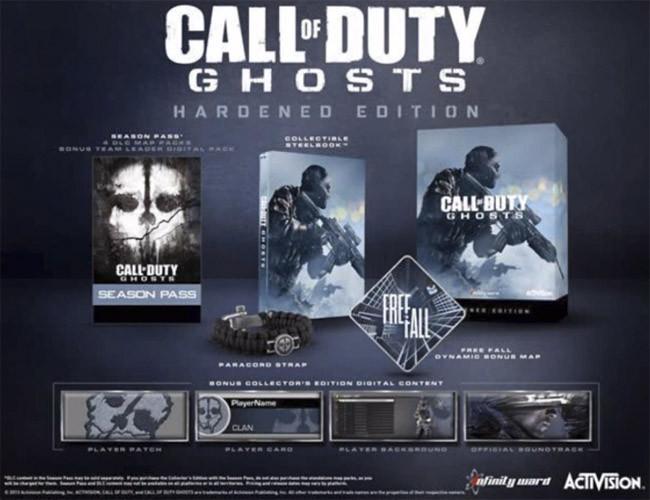 Call of Duty Ghost contará con 2 ediciones especiales