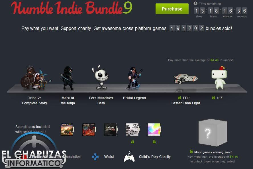 Humble Indie Bundle 9: 6 juegos Indie por menos de 4 euros