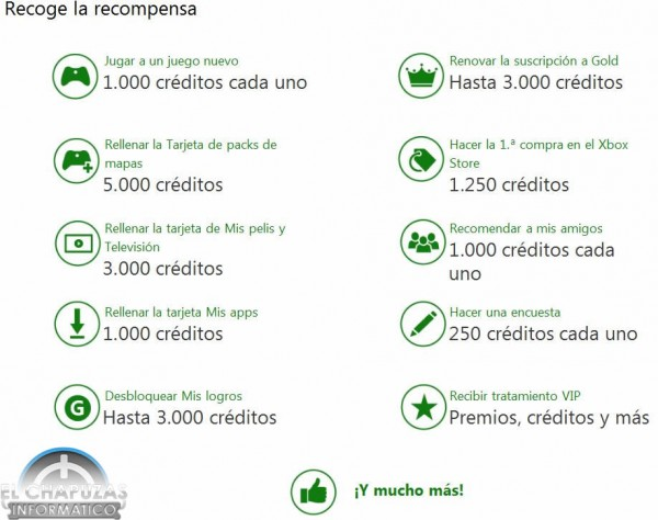 Recompensas Xbox Live