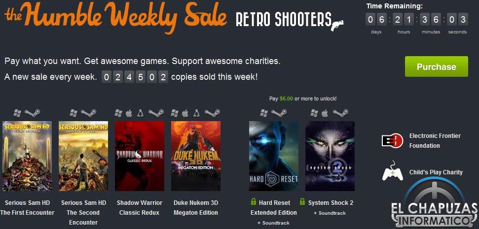 Humble Weekly Sale: 6 «Shooters Retro» por menos de 5 euros