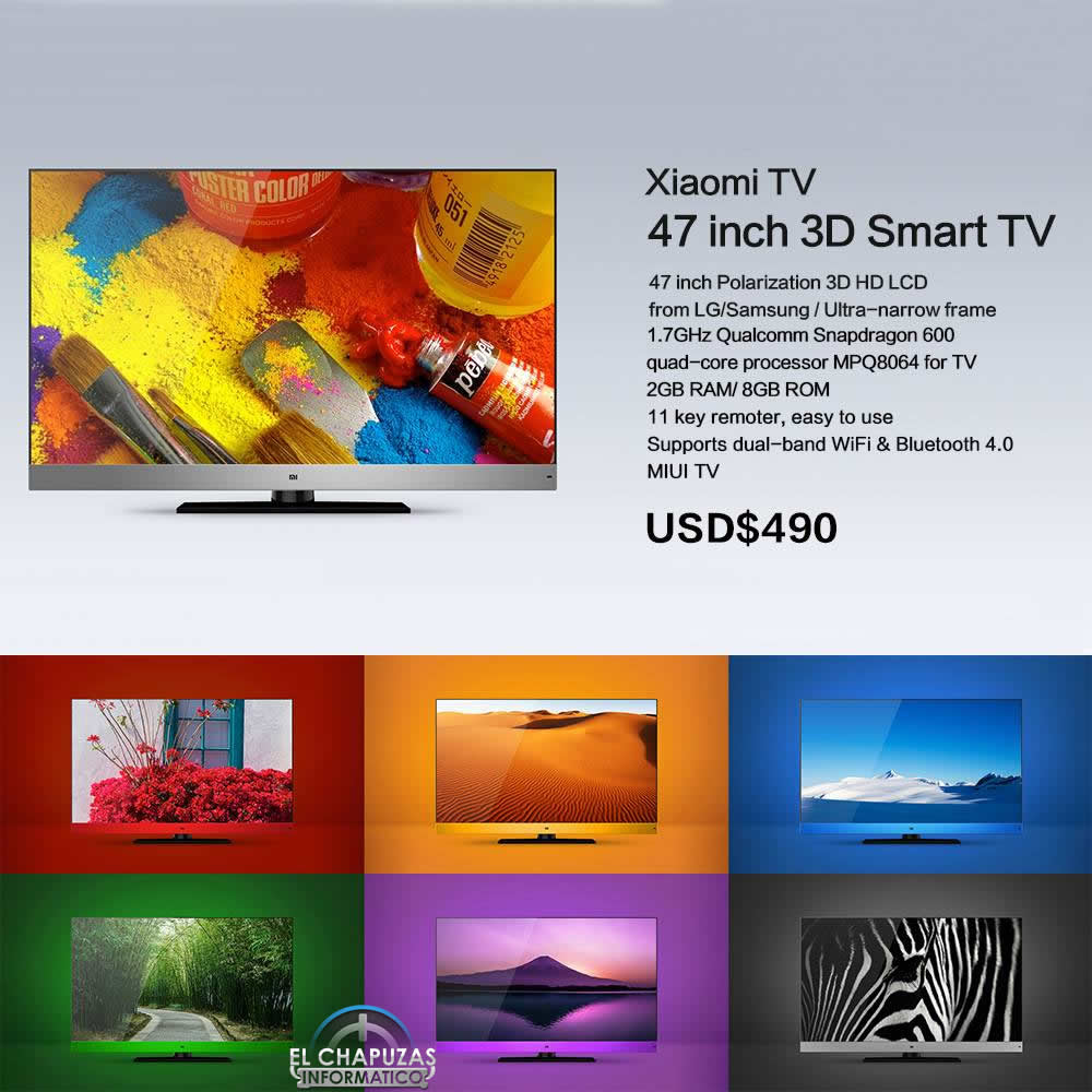 Xiaomi TV: TV 3D de 47″ por poco más de 370 euros