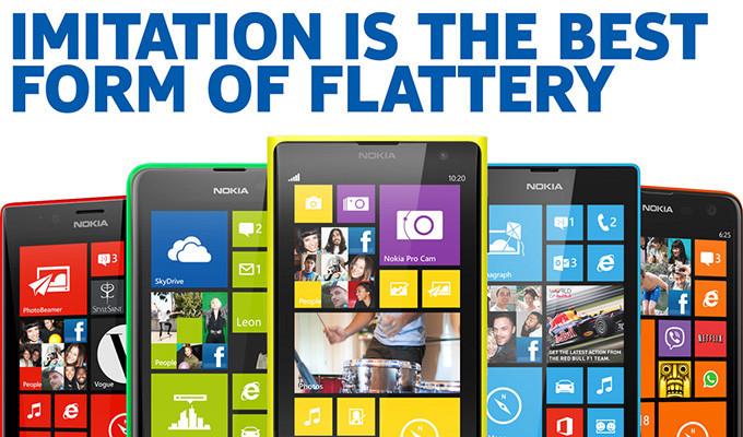 Nokia agradece el plagio de Apple