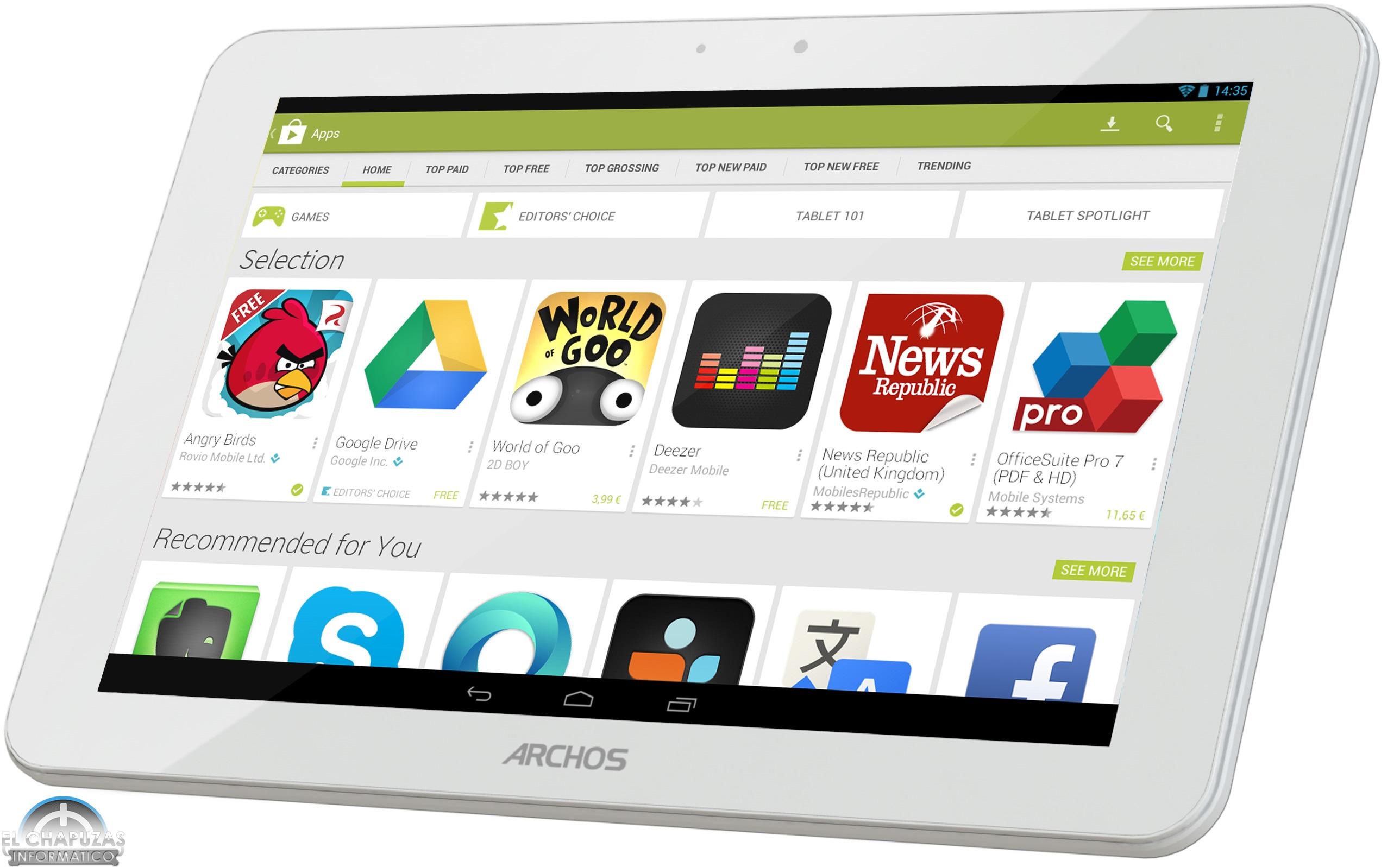 Archos presenta su nueva línea de tablets Platinum