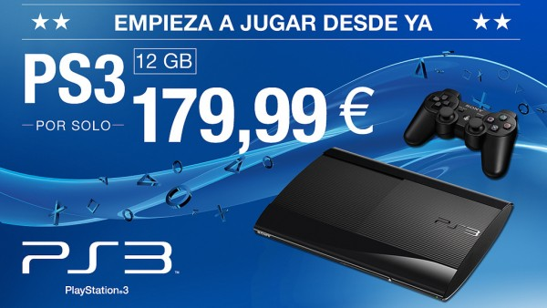 PlayStation 3 12 GB por 179.99 euros