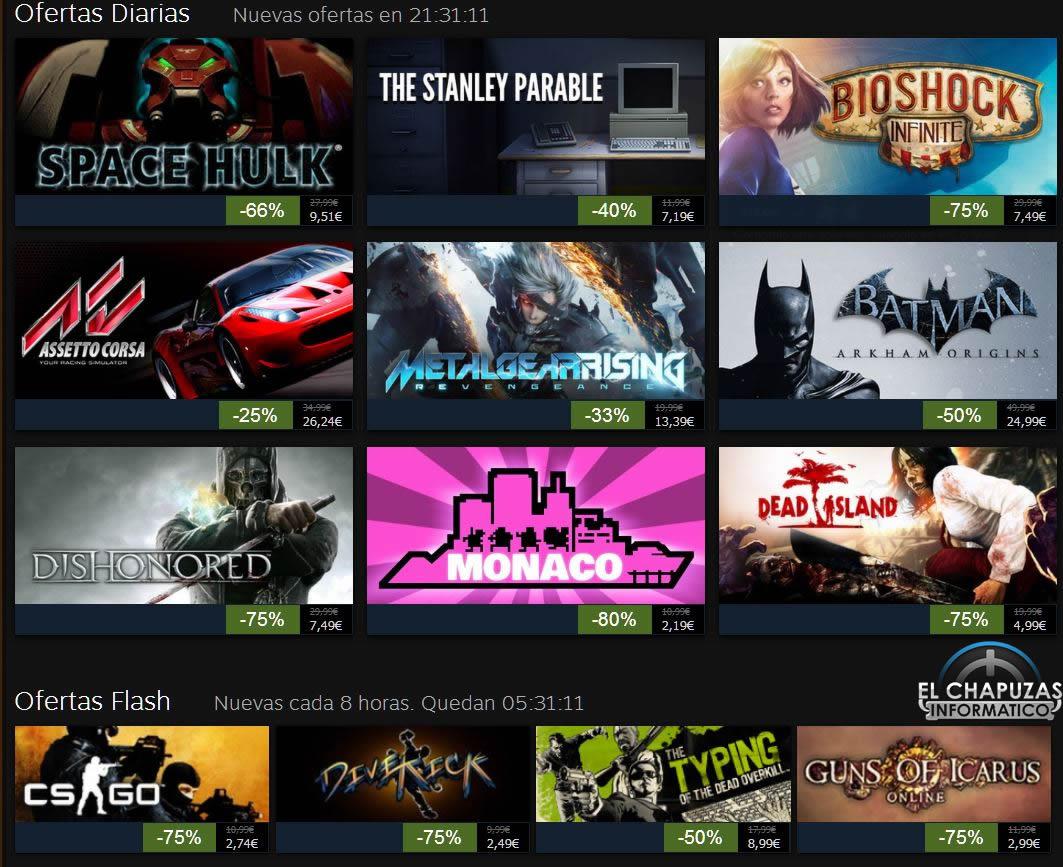 Rebajas Navideñas de Steam 2013: Día 1