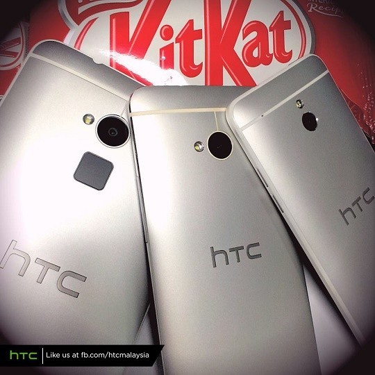 HTC One Max, HTC One, HTC One Mini Android 4.4 KitKat