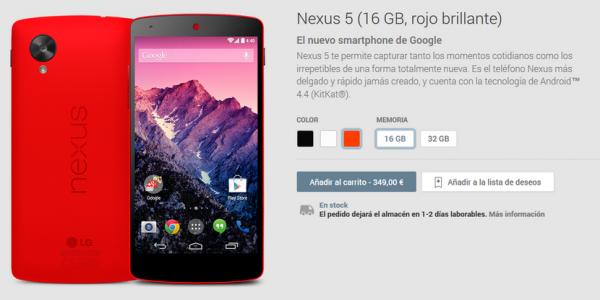 Nexus 5 Rojo Brillante