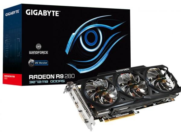 Gigabyte Radeon R9 280 WindForce OC R928WF3OC-3GD (1)