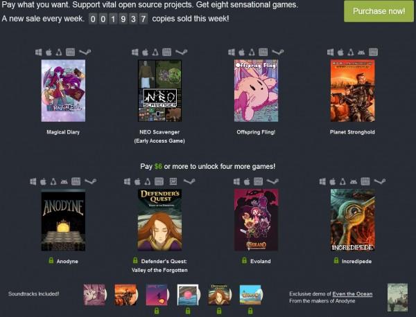 Humble Bundle juegos Open Source